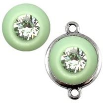 Groen Polaris cabochon chrysolite crystal green 11,5mm