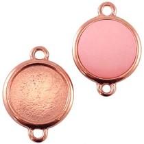 Rosegoud Tussenzetsel setting voor 15mm rosé koper goud DQ