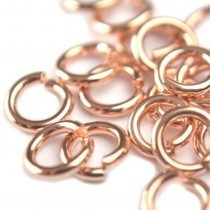 Rosegoud Ringetjes rosé goud DQ 4,5x1mm - 40 stuks