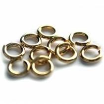 Goud Ringetjes metaal goud DQ 8x1,2mm - 16 stuks