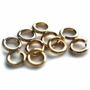 Goud Ringetjes metaal goud DQ 10x1,2mm - 10 stuks