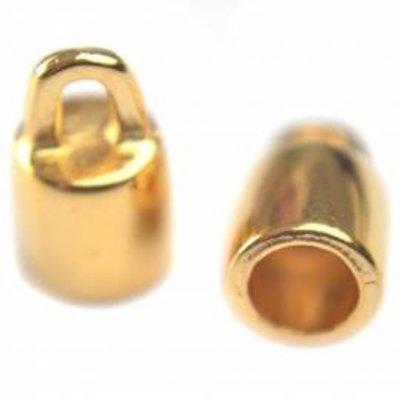 Goud Eindkap Ø4mm rond goud DQ