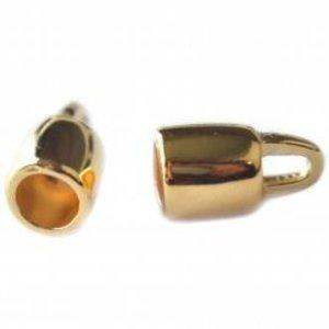Goud Eindkap Ø6mm rond goud DQ