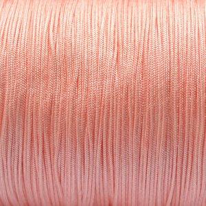 Roze Nylon koord roze peach 0,8mm - 6 meter