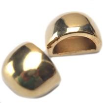 Goud Eindkap Ø10x5mm goud DQ 13x10mm