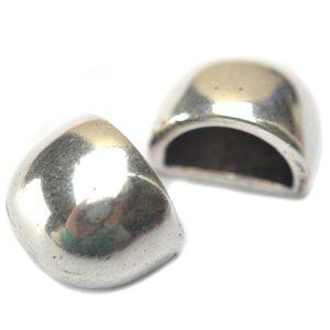 Zilver Eindkap Ø10x5mm zilver DQ 13x10mm