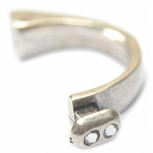 Zilver Halve armband swarovski Ø10x5mm zilver DQ