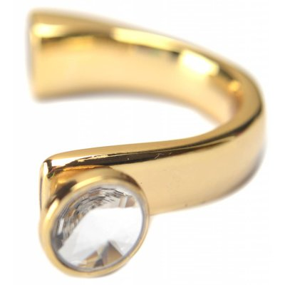 Goud Halve armband swarovski Ø10x5mm goud DQ