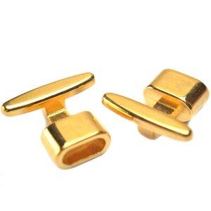 Goud Eindkap / sluiting Ø8x4mm goud DQ 19x13mm