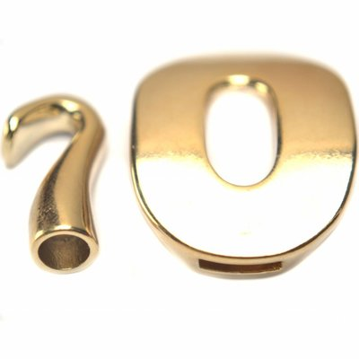 Goud Sluiting Ø10x2,5mm/6mm goud DQ 40x28mm