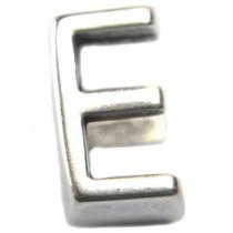 Zilver Leerschuiver E Ø10x6mm zilver DQ 15x9mm