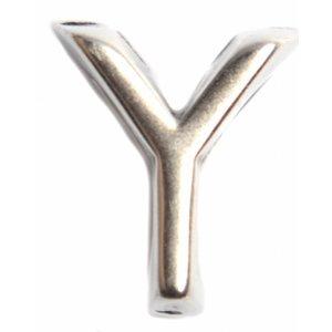 Zilver Leerschuiver Y Ø10x6mm zilver DQ
