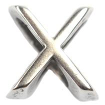 Zilver Leerschuiver X Ø10x6mm zilver DQ
