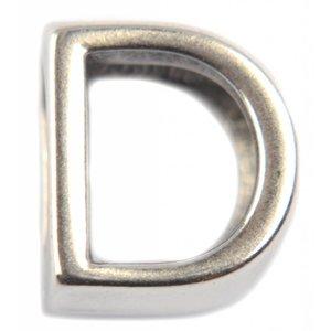Zilver Leerschuiver D Ø10x6mm zilver DQ