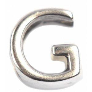 Zilver Leerschuiver G Ø10x6mm zilver DQ