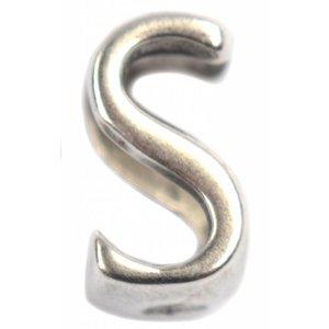 Zilver Leerschuiver S Ø10x6mm zilver DQ