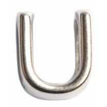 Zilver Leerschuiver U Ø10x6mm zilver DQ