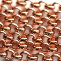 Rosegoud Jasseron roségoud DQ 4mm - 10cm