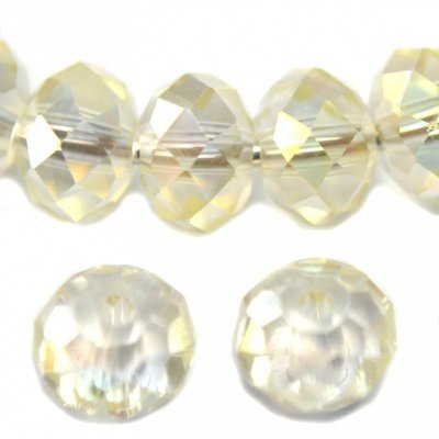 Goud Glaskraal facet rondel crystal goud AB 3x2mm - 100st
