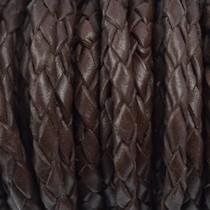 Bruin Leer donker bruin 4mm - per 10cm