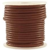 Bruin Leer rond warm bruin 3mm - per meter