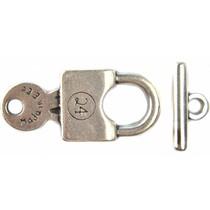 Zilver Kapittel sluiting hangslot zilver DQ 35mm