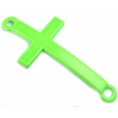 Groen Tussenzetsel kruis groen metaal 37x17mm