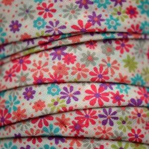 Multicolor Lint bloemetjes 10mm - 10cm