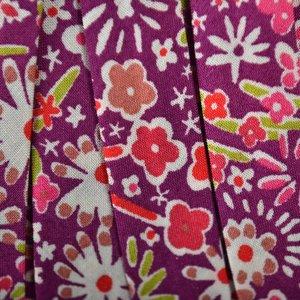 Paars Lint bloemen paars 10mm - 10cm