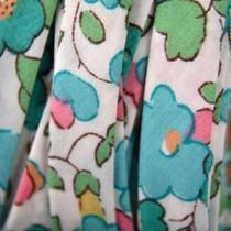Groen Lint blauw groen 10mm - 10cm