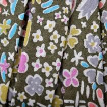 Multicolor Lint multicolor bloemen 10mm - 10cm