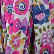 Multicolor Lint paars roze 10mm - 10cm