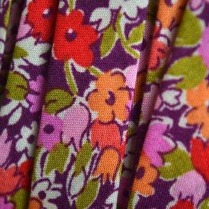 Multicolor Lint oranje paars 10mm - 10cm