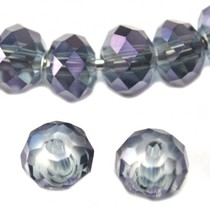Paars Facet rondel donker blauw violet 6x4mm - 45 stuks