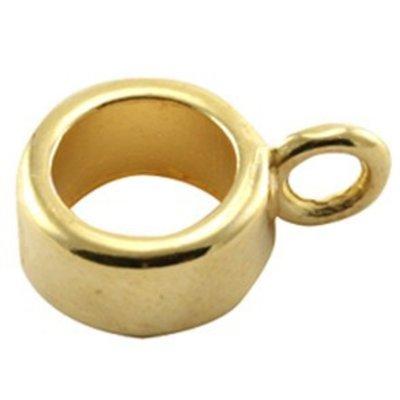 Goud Kraal met oog Ø6mm goud DQ 8x4mm