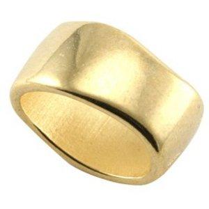 Goud Leerschuiver Ring Ovaal 10x15mm Goud DQ