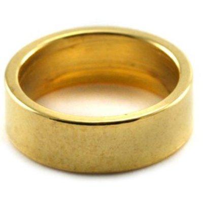 Goud Leerschuiver Ring Ø10mm Goud DQ 12x4mm
