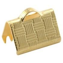 Goud Veterklem 10mm Goud DQ