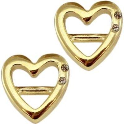 Goud Leerschuiver hart crystal goud DQ 16mm