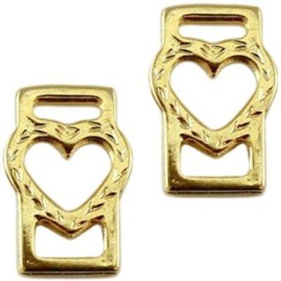 Goud Leerschuiver hart goud DQ 18x12mm