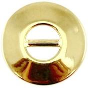 Goud Leerschuiver rond Goud DQ 24mm