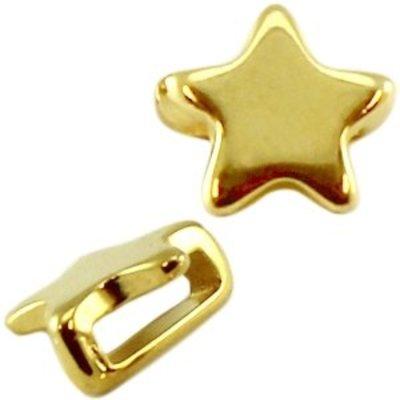 Goud Leerschuiver ster goud DQ 10mm