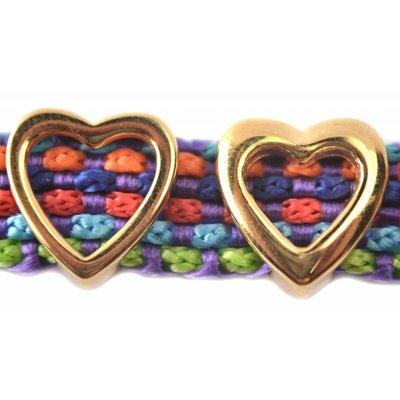 Goud Leerschuiver hart Ø10x2.5mm goud DQ 13mm