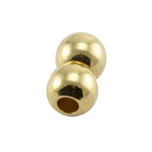 Goud Magneetsluiting rond Ø3mm Goud DQ 8x6,8mm