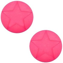 Roze Cabochon Polaris ster 12mm  Indian Pink