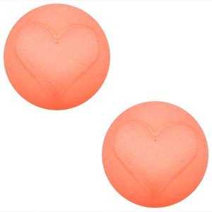 Roze Cabochon Polaris hart 12mm Rose Peach