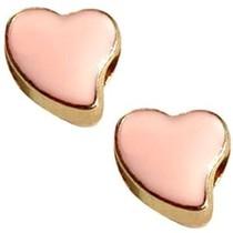 Goud Kraal hart Ø4mm goud peach 12mm