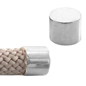 Zilver Eindkap Ø10mm Zilver DQ 17x12mm