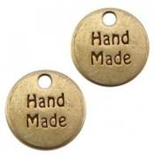 Antiek Goud Brons Bedel handmade Brons DQ 13mm