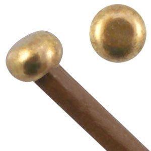 Antiek Goud Brons Eindkapje Ø2mm Brons DQ 5x3mm
